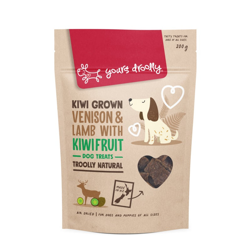Yours Droolly Kiwi Grown Venison, Lamb with Kiwifruit Treats 200g