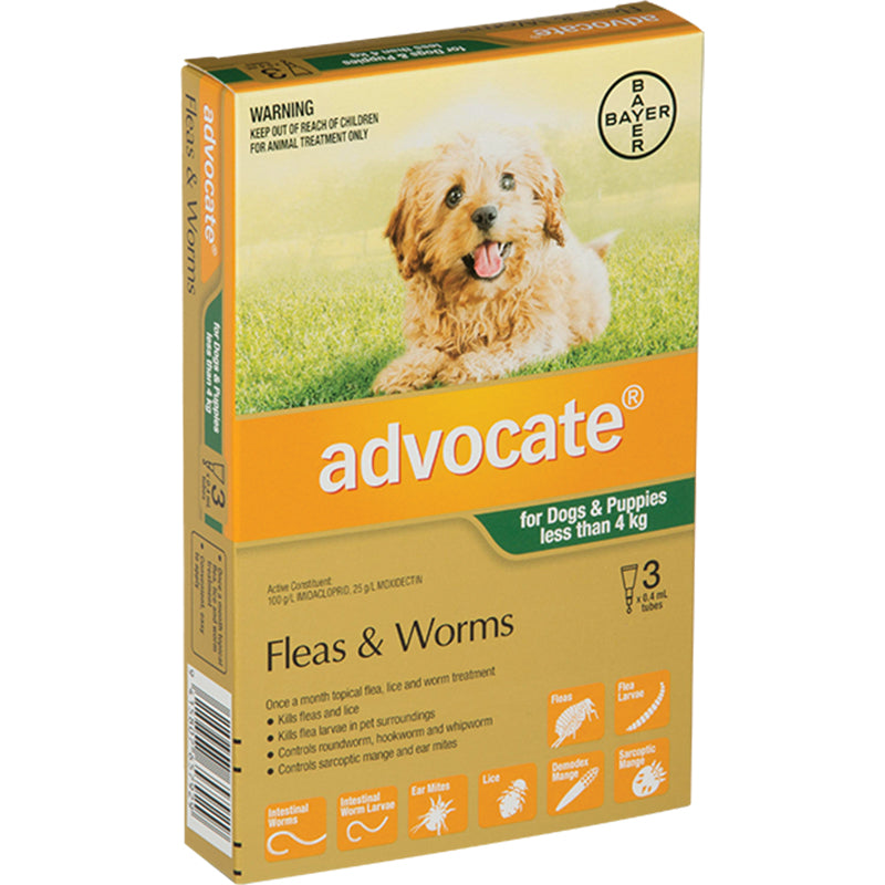 Advocate for Puppy/Small Dogs (Under 4kg)