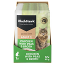 Black Hawk Grain Free Adult Cat - Chicken, Pea & Broth (Wet Food)
