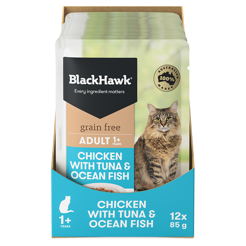Black Hawk Grain Free Adult Cat - Chicken, Tuna & Fish (Wet Food)