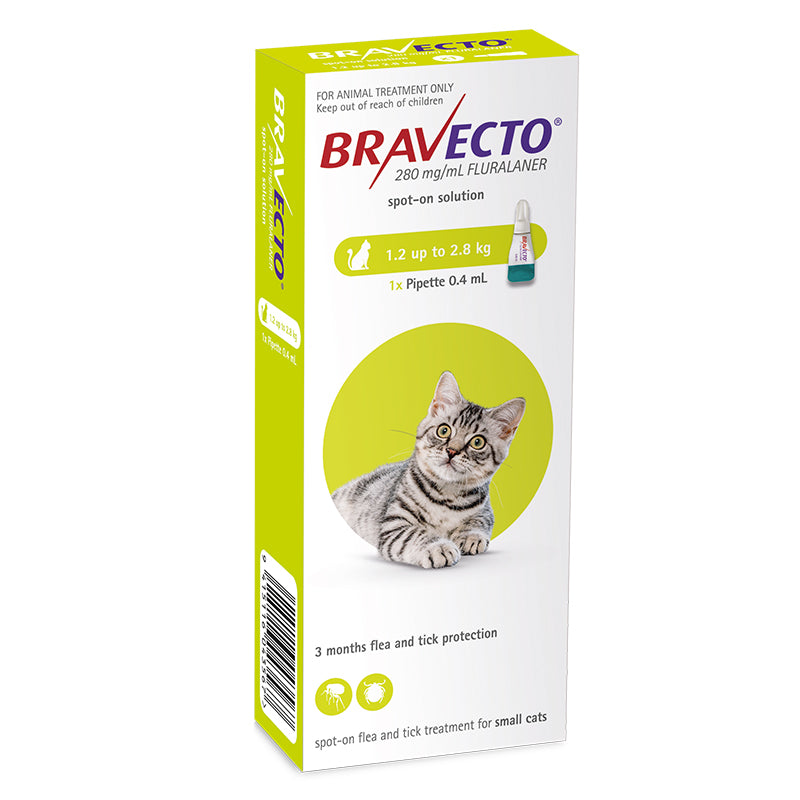 Bravecto Spot-On for Small Cats (1.2-2.8kg)