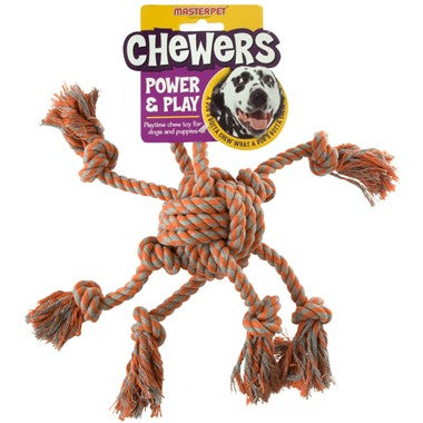 Yours Droolly Chewers Rope Octopus - Orange
