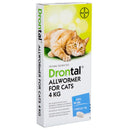 Drontal Allwormer for Cats (4kg per tablet) - Sold Individually