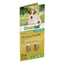 Drontal Allwormer Chews for Dogs (Up to 10kg) - 2 Pack
