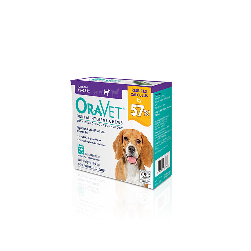 Oravet Dental Chews for Medium Dogs (11-23kg)