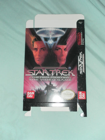 Star Trek V The Final Frontier for Nintendo NES Box Only