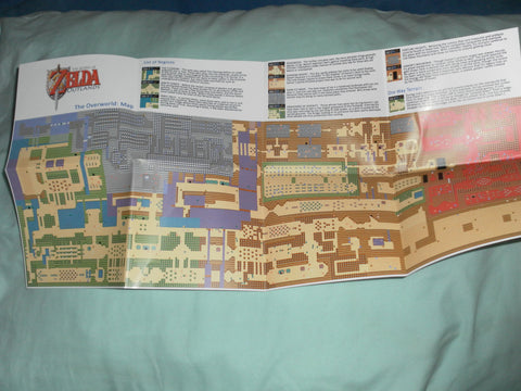 The Legend of Zelda Outlands Map for Nintendo NES