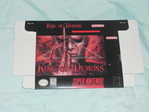 King of Demons Super Nintendo SNES Box Only
