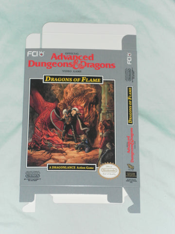 AD&D - Dragons of Flame for Nintendo NES Box Only