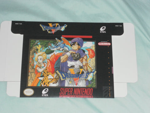 Dragon Quest V 5 for Super Nintendo Box Only