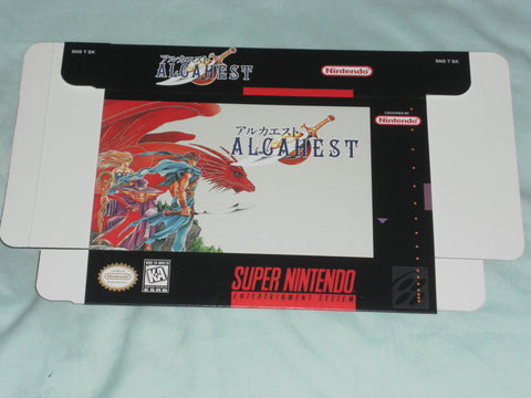 Alcahest for Super Nintendo SNES Box Only