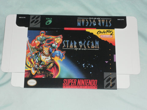 Star Ocean for Super Nintendo SNES Box Only