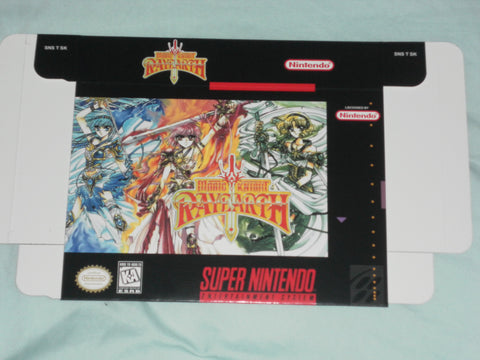 Magic Knight Rayearth for Super Nintendo SNES Box Only