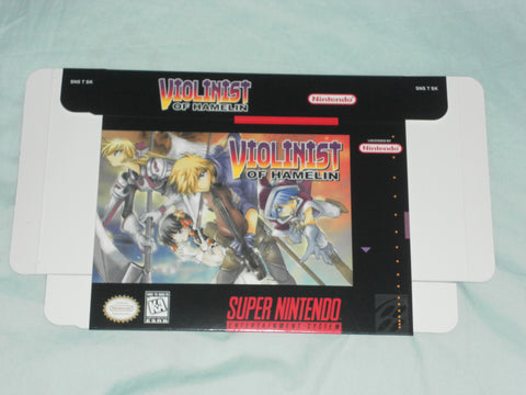 Violinist of Hamelin Quest for Super Nintendo SNES Box Only
