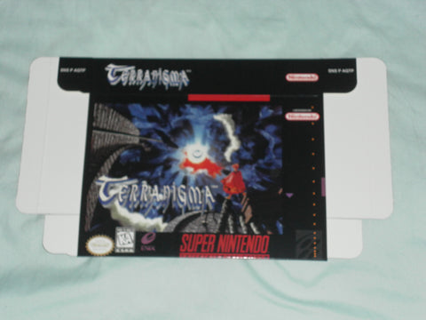 Terranigma for Super Nintendo SNES Box Only