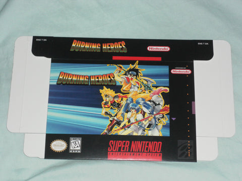 Burning Heroes for Super Nintendo SNES Box Only