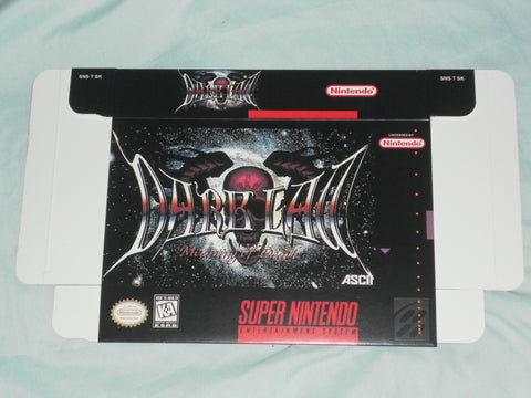 Dark Law Meaning of Death for Super Nintendo SNES Box Only