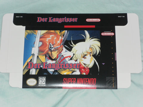Der Langrisser for Super Nintendo SNES Box Only