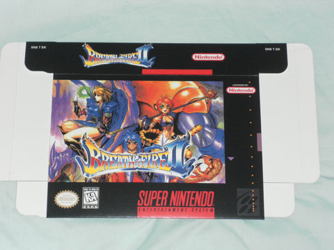Breath of Fire II 2 for Super Nintendo SNES Box Only