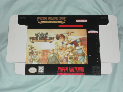 Fire Emblem Thracia 776 for Super Nintendo SNES Box Only