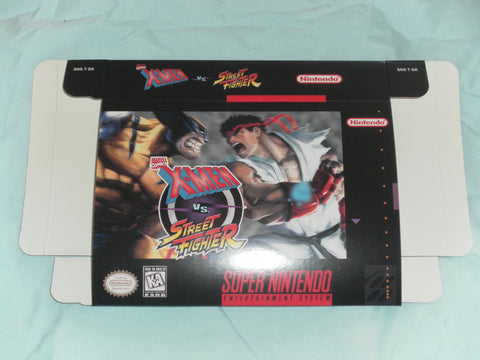 X-Men vs. Street Fighter for Super Nintendo SNES Box Only