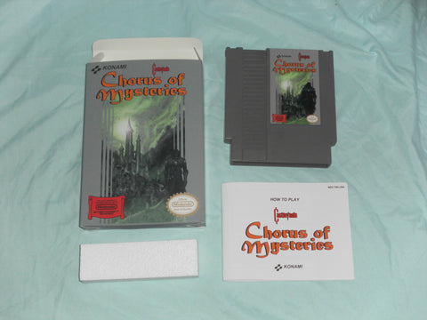 Castlevania - Chorus of Mysteries for Nintendo NES CIB Complete in Box