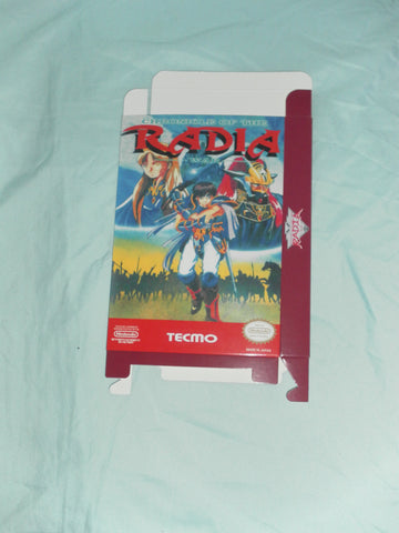 Chronicle of the Radia War for Nintendo NES Box Only