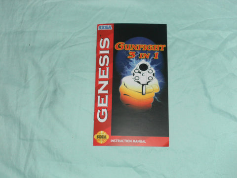 Gunfight 3 in 1 Manual for Sega Genesis