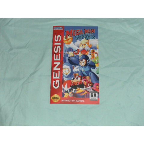 Megaman The Wily Wars Manual for Sega Genesis