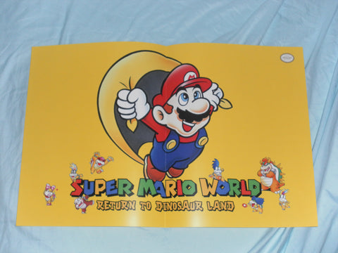 Super Mario World Return to Dinosaur Land Map / Poster for Super Nintendo SNES