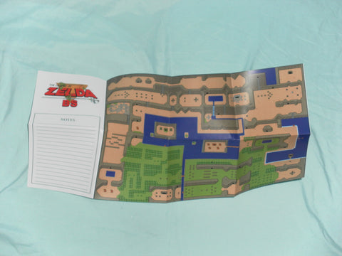 The Legend of Zelda BS Map / Poster for Super Nintendo SNES