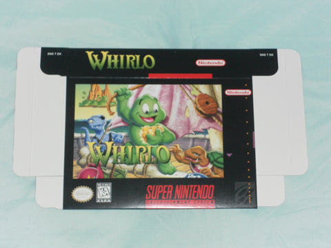 Whirlo for Super Nintendo SNES Box Only