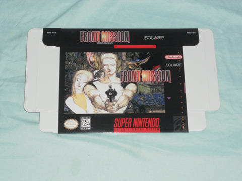 Front Mission for Super Nintendo SNES Box Only