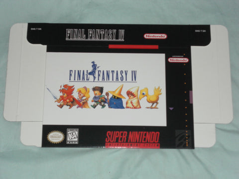 Final Fantasy IV 4 for Super Nintendo SNES Box Only