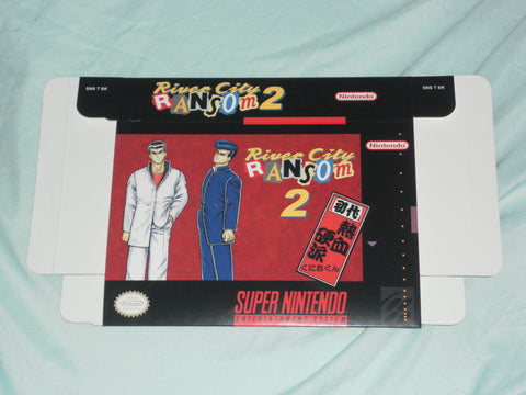 River City Ransom 2 for Super Nintendo SNES Box Only