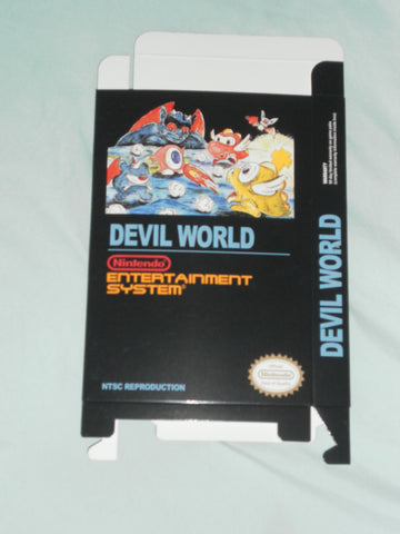 Devil World NTSC for Nintendo NES Box Only