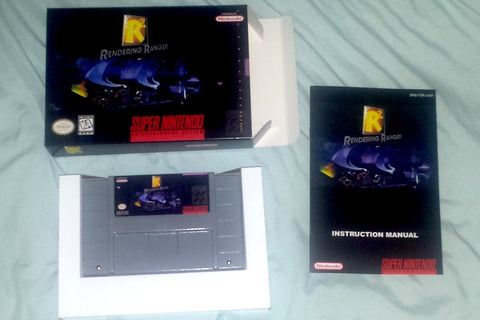 Rendering Ranger R2 for Super Nintendo SNES Complete in Box