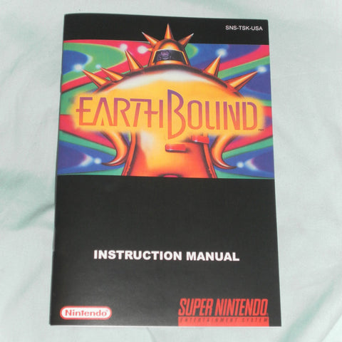 SNES Earthbound Regular Size Manual for Super Nintendo SNES