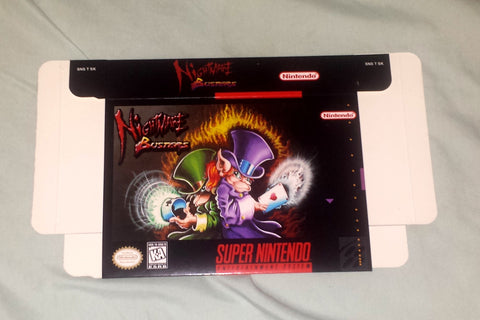 Nightmare Busters for Super Nintendo SNES Box Only
