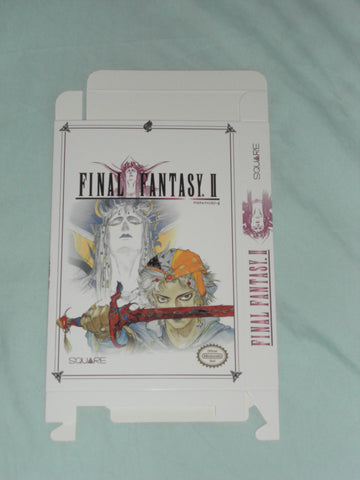Final Fantasy II 2 for Nintendo NES Box Only