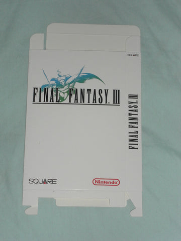 Final Fantasy III 3 for Nintendo NES Box Only