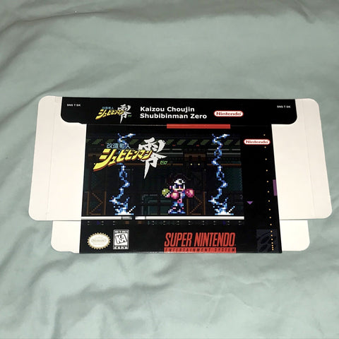 Kaizou Choujin Shubibinman Zero for Super Nintendo SNES Box Only