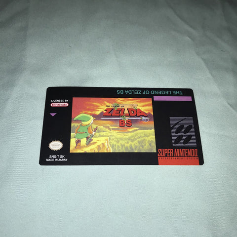 The Legend of Zelda BS Label for Super Nintendo SNES