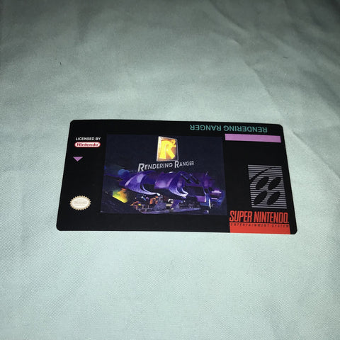 Rendering Ranger R2 Label for Super Nintendo SNES