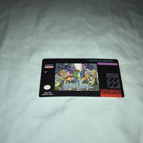Secret of Mana 2 Label for Super Nintendo SNES