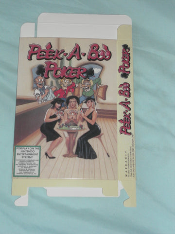 Panesian Peek a Boo Poker for Nintendo NES Box Only