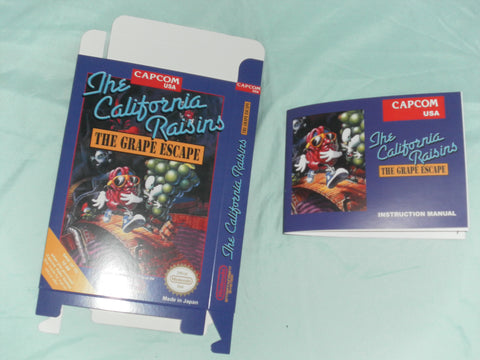 California Raisins Box and Manual Combo for Nintendo NES