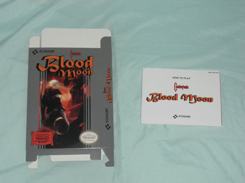 Castlevania - Blood Moon Box and Manual Combo for Nintendo NES