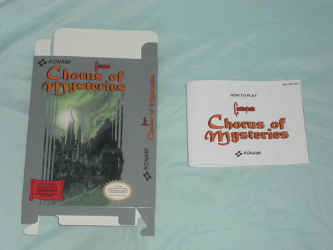 Castlevania - Chorus of Mysteries Box and Manual Combo for Nintendo NES
