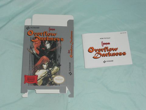 Castlevania - Overflow Darkness Box and Manual Combo for Nintendo NES